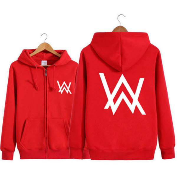 Unisex Hoodie Zip-up Jacket  Sweatshirt with Front Pocket