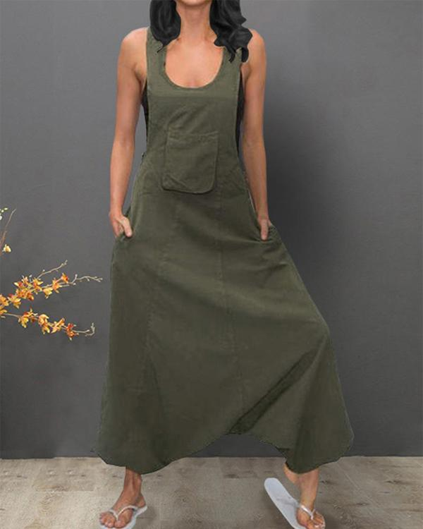 Sleeveless Bib Pants Harem Trousers Jumpsuit