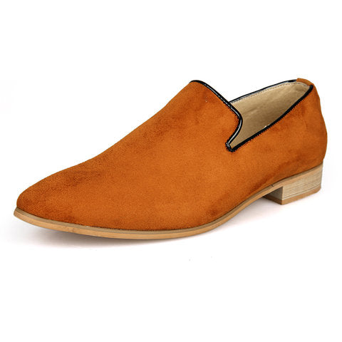 Men British Style Slip On Soft Suede Moccasins Boat Driving Flats Shoes For Men