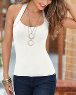 Fashion Solid Spaghetti-Strap Sexy Camis Tops