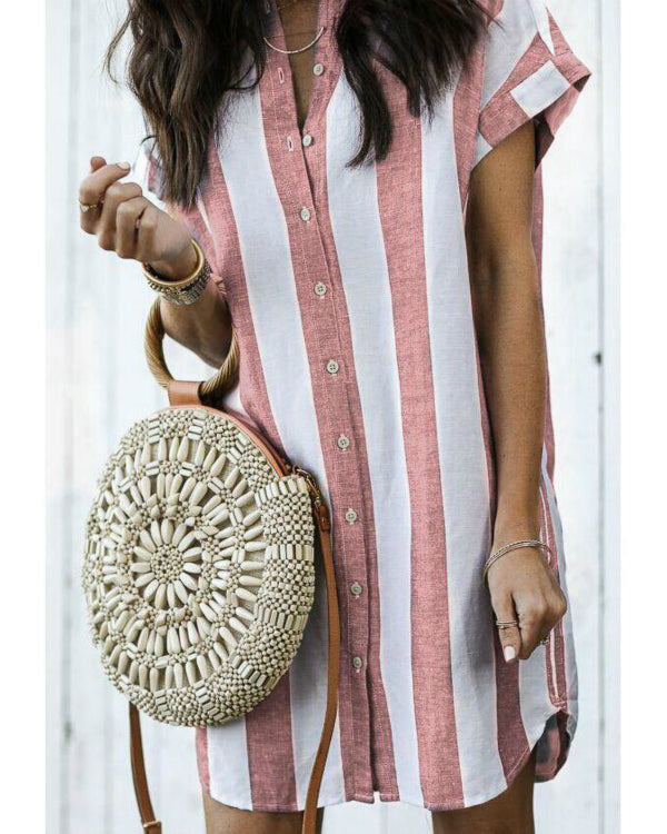 Casual Striped Summer Mini Dress