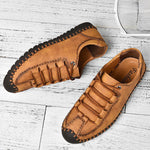 Menico Large Size Men Hand Stitching Anti-collision Soft  Shoes