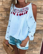 Floral Printed Short Sleeve  Crew Neck Women Summer Tops