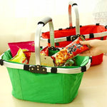 Foldable Shopping Basket Multifunctional Storage Basket Folding Basket