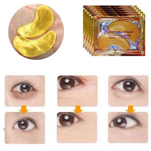 20 Pair 24K Gold Crystal Collagen Eye Mask Dark Circle Eye Bags Patches