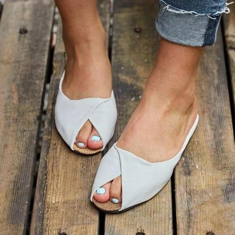 Casual Flat Heel Daily Slippers Sandals