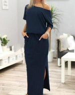 Women's Summer Boho Long Maxi Dress Evening Cocktail Party Beach Dress Sundress