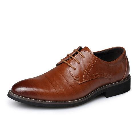 Men Color Match Formal Business Lace Up Shoes