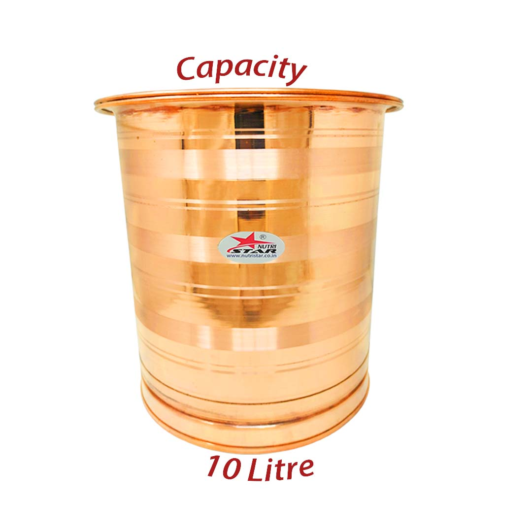 Brass Hammered khalai tin Coating cookware tope with lid