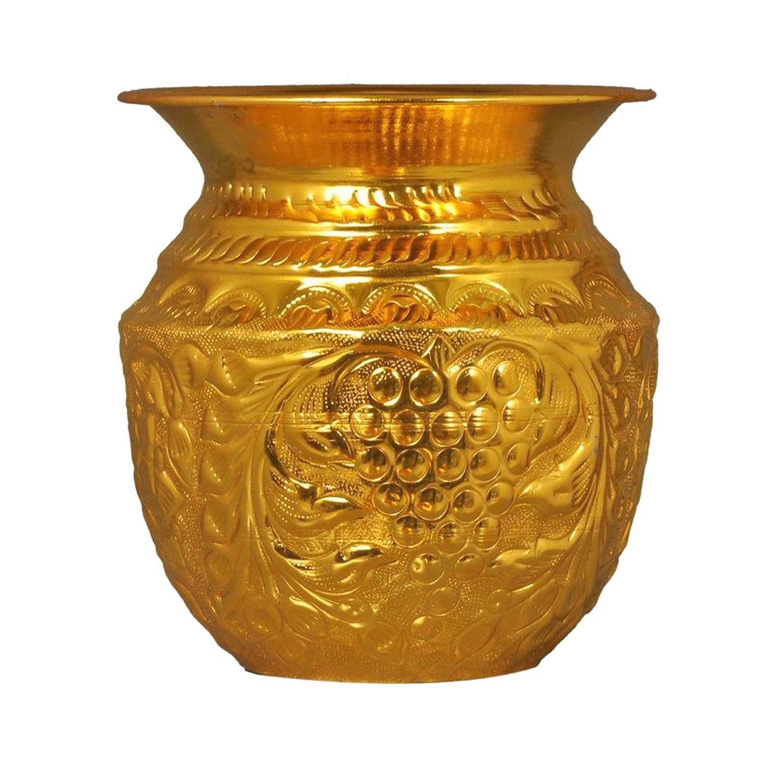 Lota Brass Golden Handcrafted Capacity(1000ml, 1300ml)