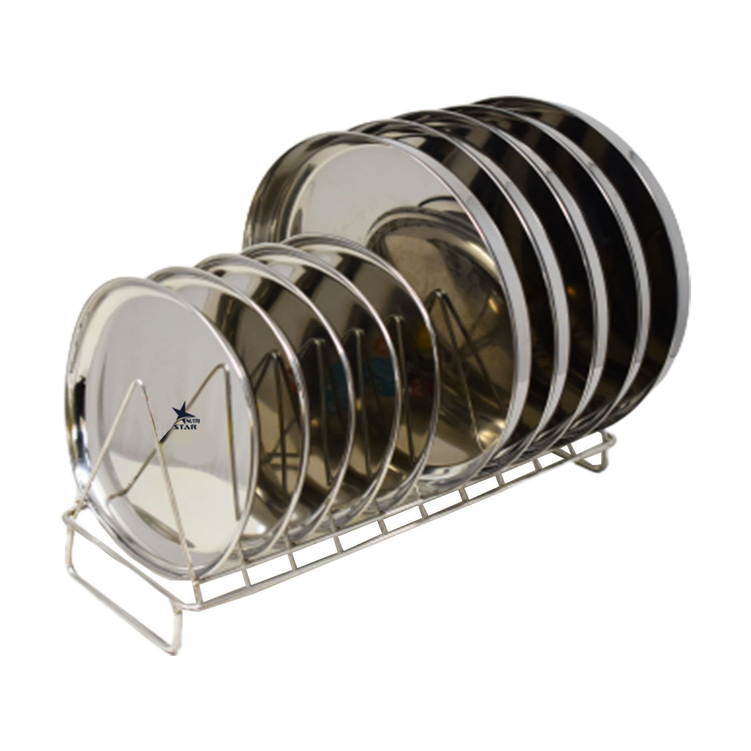 Nutristar Stainless Steel Stand for Kitchen | Plates Stand for Kitchen Size 15 Inch x 6 Inch x 9 Inch…