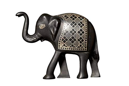 Bidri Art Elephant Tarakshi Showpiece |Handcrafted in Pure Silver