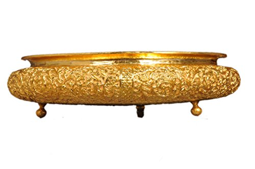 URLI Handcrafted Gold Plated Copper Urli Diameter = 14 inches (36 cm)
