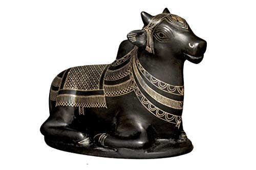 Bidri Art Nandi Showpiece |Handcrafted in Pure Silver