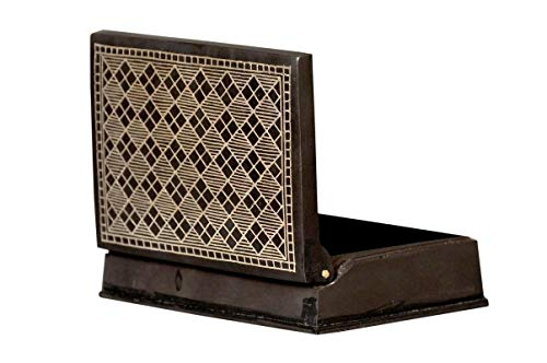 Bidri Art Jewelry Box Showpiece | Handcrafted in Pure Silver