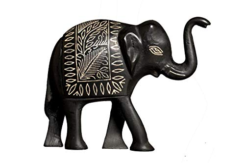 Bidri Art Elephant with Up Nose | Tarakshi Design