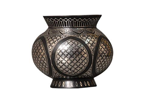 Bidri Art Work Flower Vase | Handcrafted in Pure Silver.