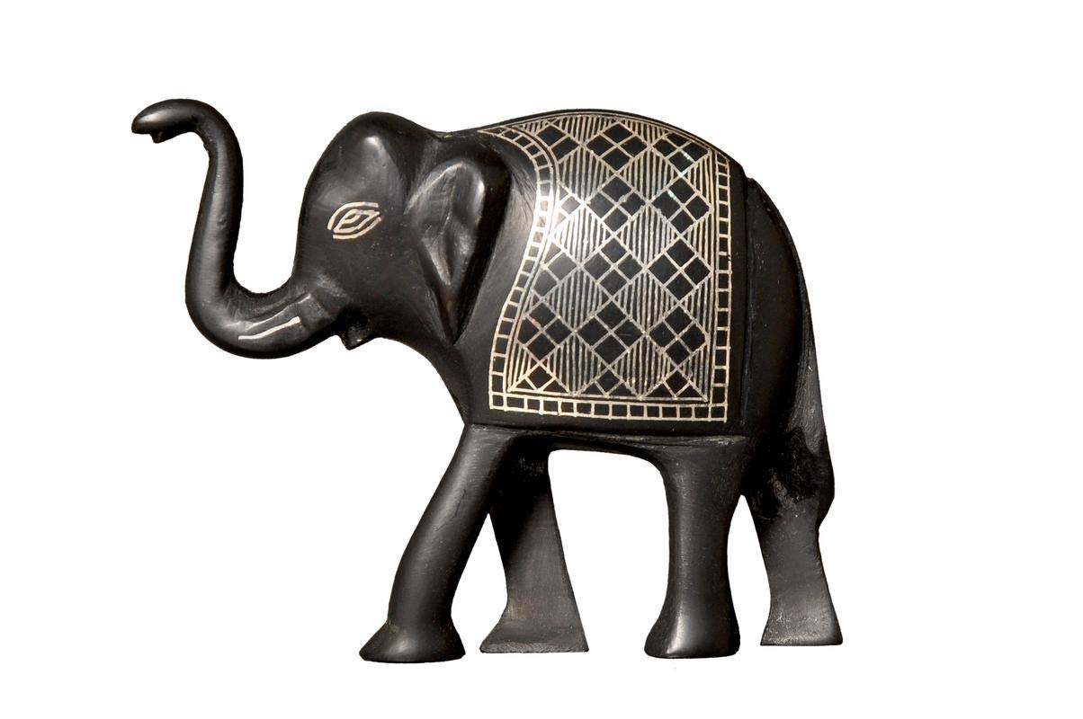 "Bidri Art"" Elephant"" Showpieces Handcrafted in Pure Silver and Zinc."