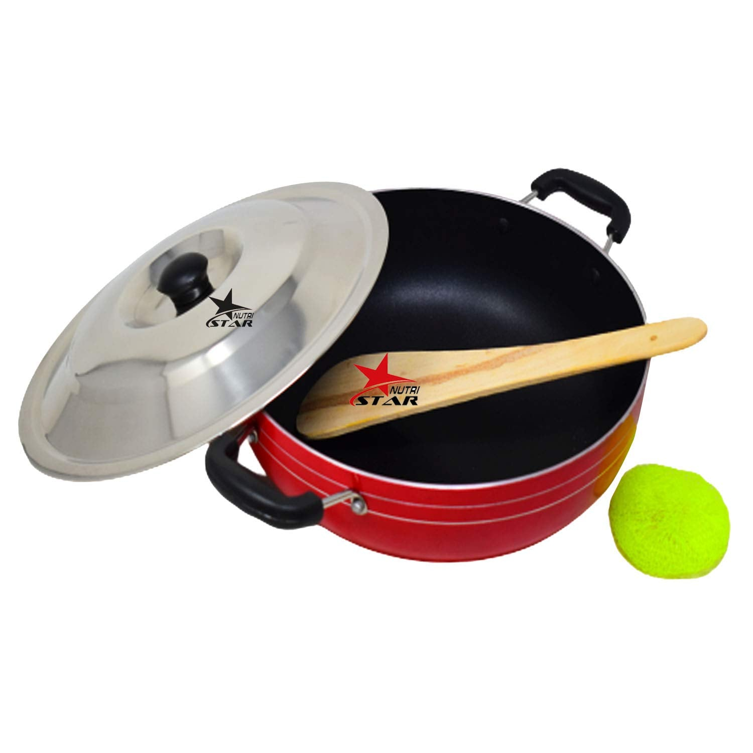 Non-Stick Kadhai Deep-Fry Pan Pan 2500ML (3MM Thickness)| Non Stick Kadai Cooking Utensil