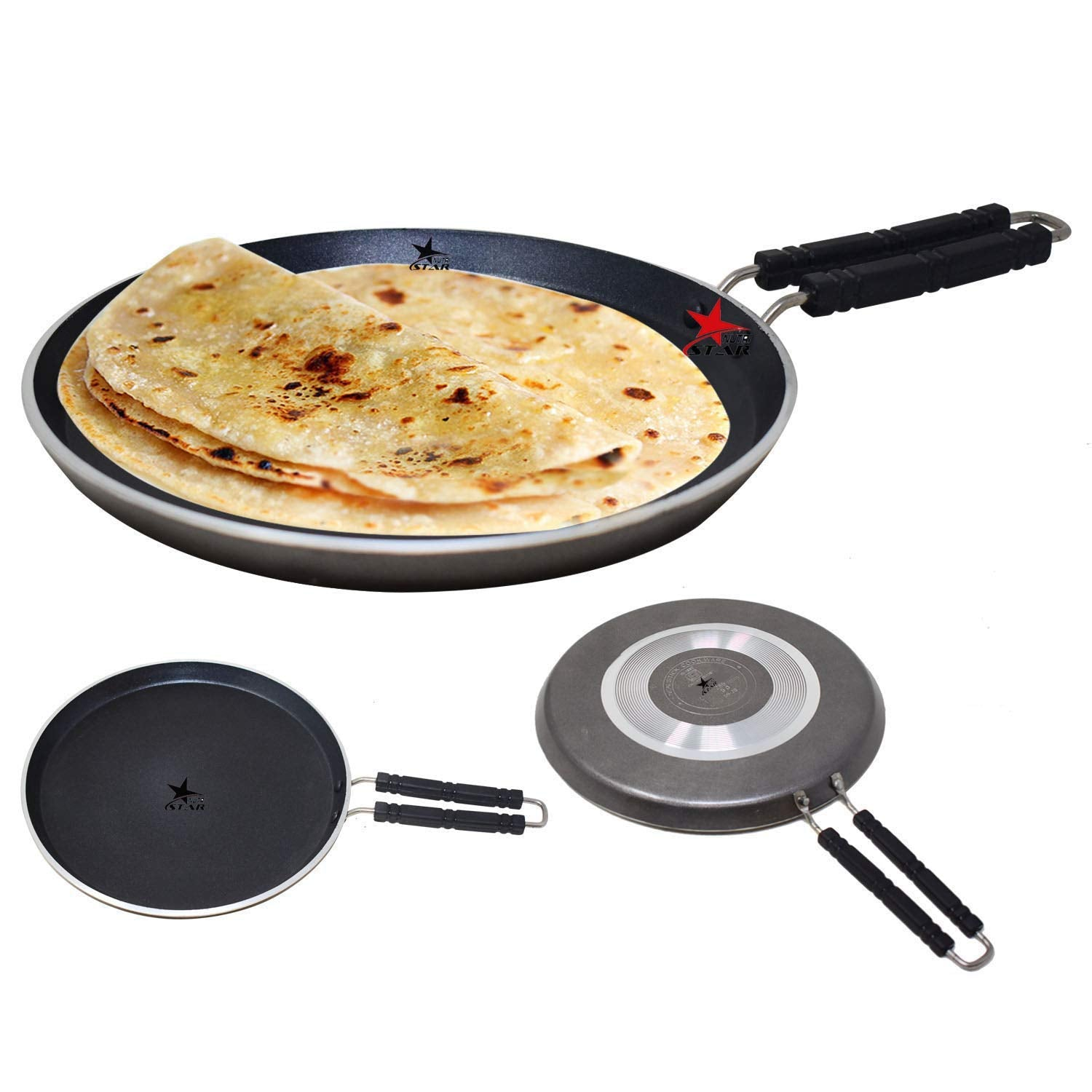 Non Stick High Grade 3 Layer Coating Tawa ISI Mark Tawa | Dosa Roti Tawa 5MM Thickness