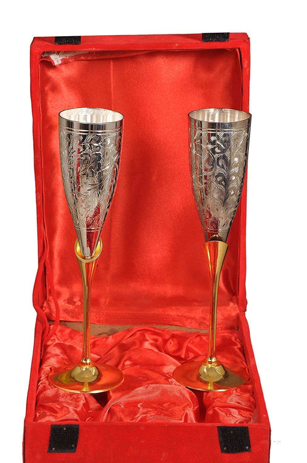 Nutristar Brass Wine Glass 2 Piece Set (Red Box)