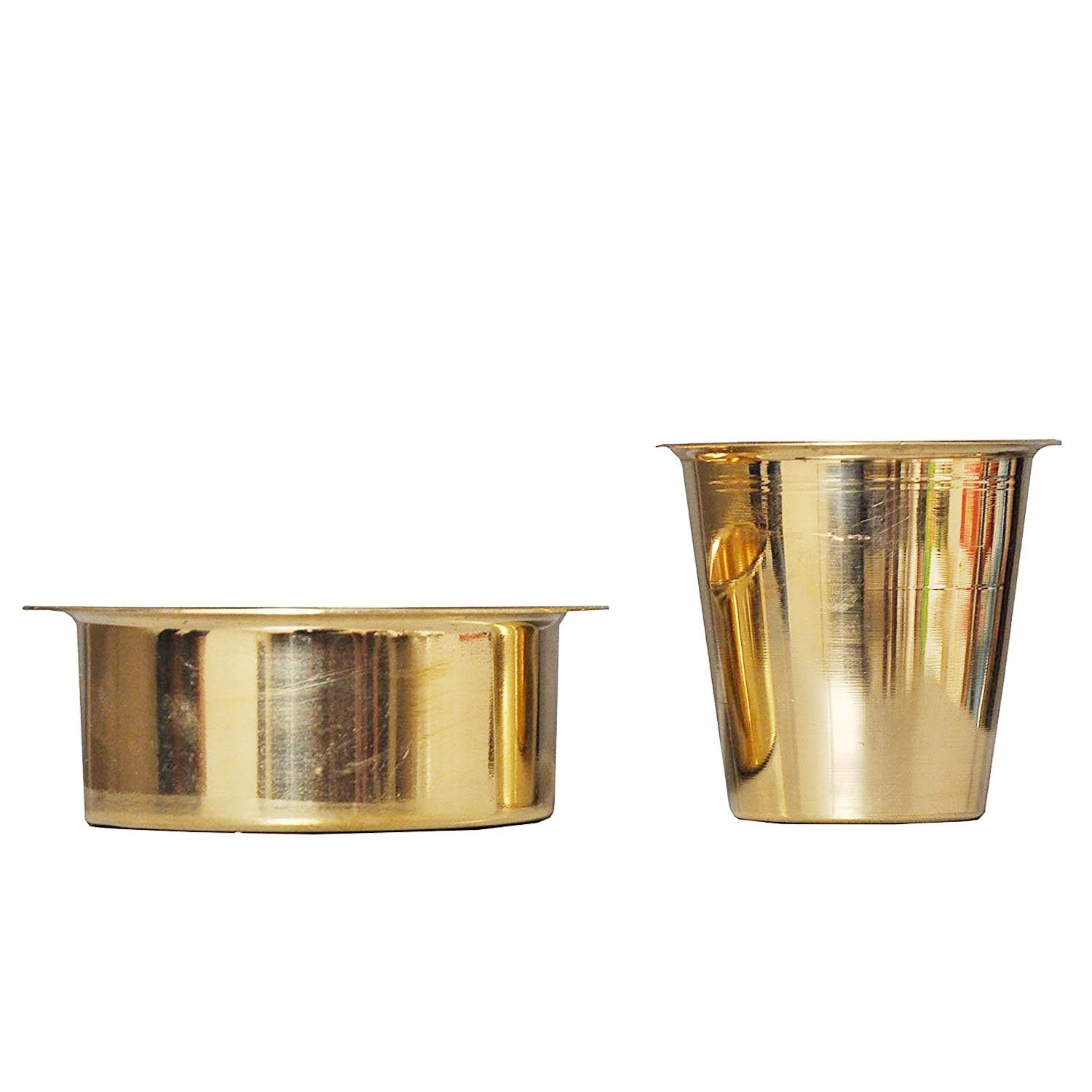Pure Brass Madrasi Filter Coffee Set