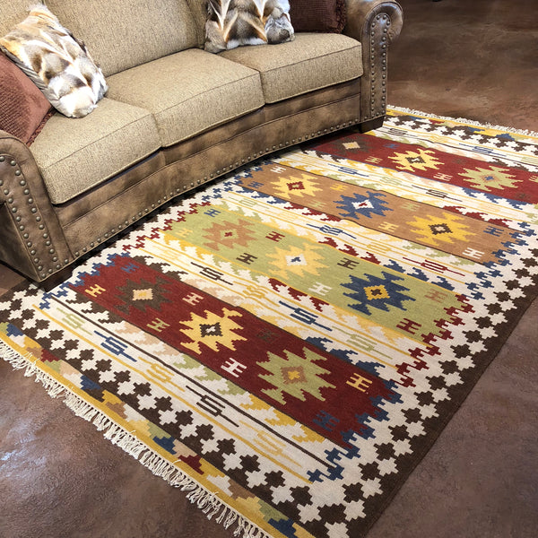 Kilim Rug 5x8 - Rusty Moose Marketplace