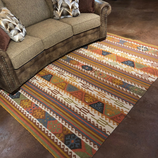 Autumn Aztec- Kilim Rug - Rusty Moose Marketplace