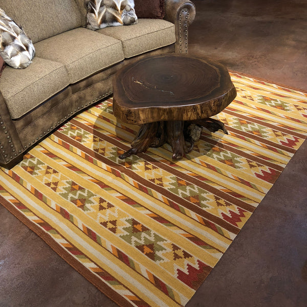 Harvester - Kilim Rug 5x8 - Rusty Moose Marketplace