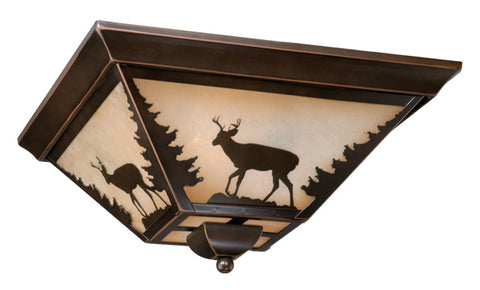 "Bryce 14"" Flush Mount - Deer - Rusty Moose Marketplace"