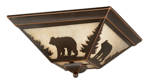 "Bozeman 14"" Flush Mount - Bear - Rusty Moose Marketplace"
