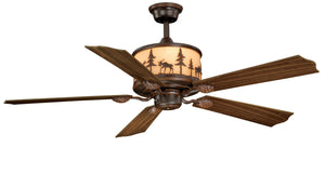 "Yellowstone 56"" Ceiling Fan - Rusty Moose Marketplace"
