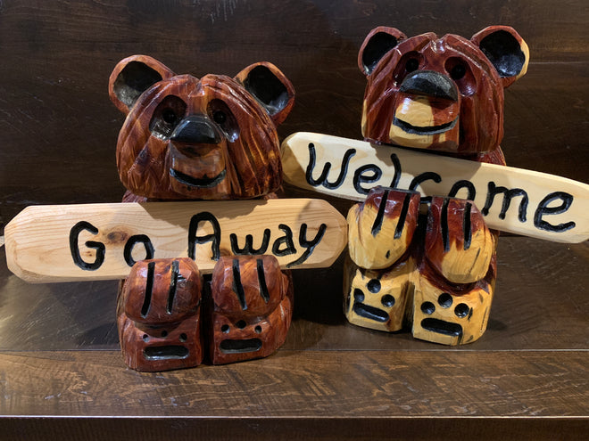 Chainsaw-Carved Bears