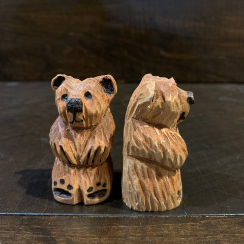 Hand Whittled Bear - Tiny - Rusty Moose Marketplace