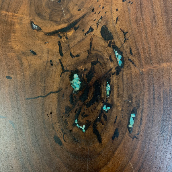 Walnut Coffee Table with turquoise inlay - Rusty Moose Marketplace