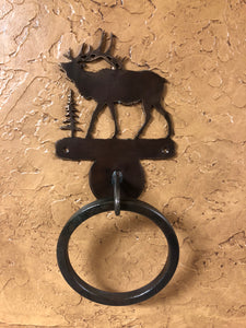 Elk Towel Ring - Rusty Moose Marketplace