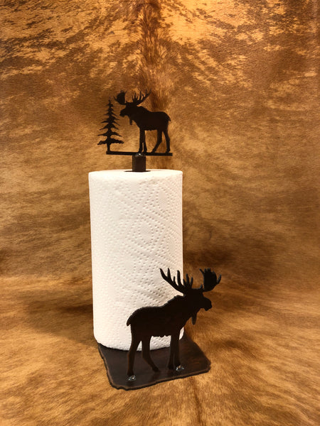 Moose Standing Paper Towel Holder - Rusty Moose Marketplace