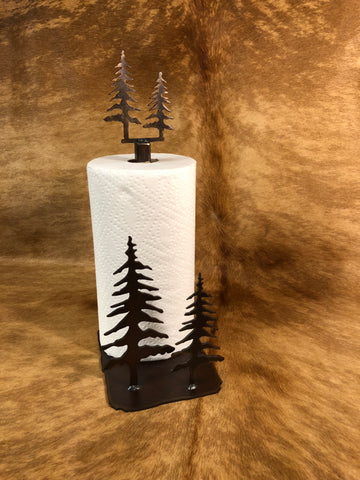 Trees Standing Paper Towel Holder - Rusty Moose Marketplace