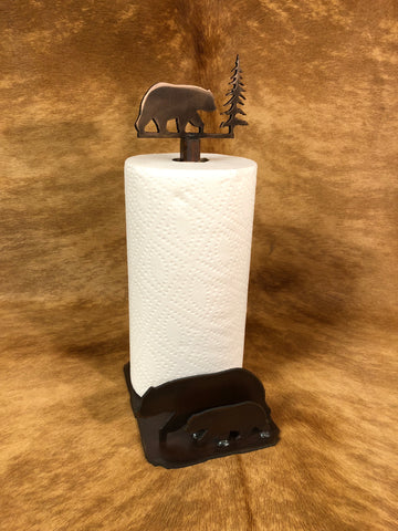 Bear Standing Paper Towel Holder - Rusty Moose Marketplace