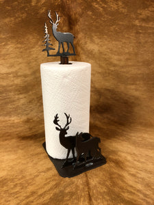 Deer Standing Paper Towel Holder - Rusty Moose Marketplace