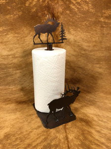 Elk Standing Paper Towel Holder - Rusty Moose Marketplace