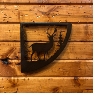 Deer Shelf Bracket Set - Rusty Moose Marketplace