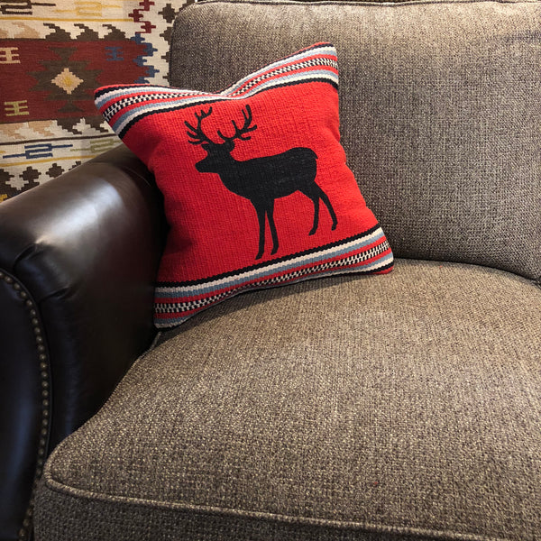 Red Deer Pillow - Rusty Moose Marketplace