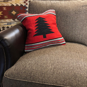 Red Tree Pillow - Rusty Moose Marketplace