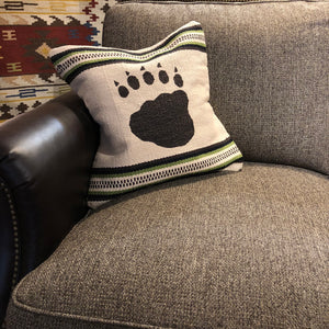 Cream Bear Paw Pillow - Rusty Moose Marketplace
