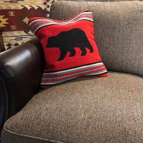 Red Bear Pillow - Rusty Moose Marketplace