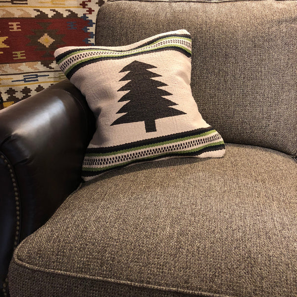 Cream Tree Pillow - Rusty Moose Marketplace