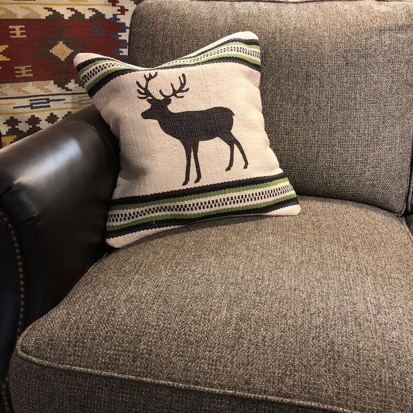 Cream Deer Pillow - Rusty Moose Marketplace