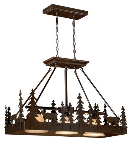 "Bryce 36"" Chandelier - Rusty Moose Marketplace"