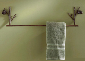 Pinecone Towel Bar - Rusty Moose Marketplace